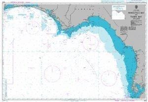 Ba Diagramm 3852  Pensacola Bucht, um Tampa Bay von UNITED KINGDOM Hydrographic Büro