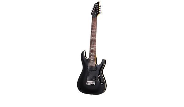 Schecter Omen-8 Guitarra eléctrica de ocho cuerdas, color negro: Amazon.es: Instrumentos musicales