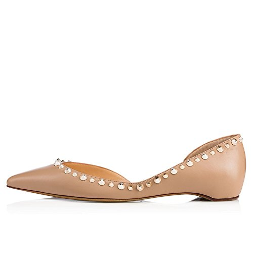 HUAN amp; Wedding PU Shoes Fall Spring for Toe Comfort Flats Party Pointed Large Women's A Size Evening Rivets rxwORpqr