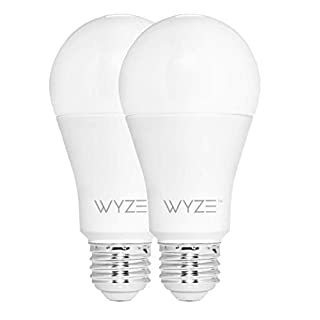 WYZE WLPA19-2 LED Smart Home Light Bulb, Two-Pack, White
