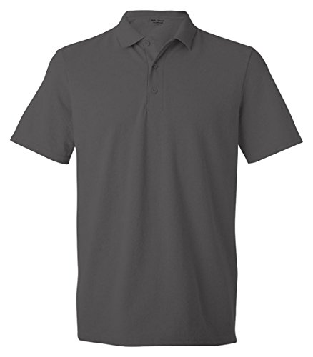 Gildan Youth Gildan DryBlend� Pique Polo (Charcoal) (X-Small) - Sleeve Youth Pique Polo