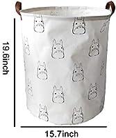 gris cesto de almacenamiento Cestos para la colada cesto de juguetes para ni/ños cesto de ropa sucia f/ácil de usar y que ahorra espacio almacenamiento plegable