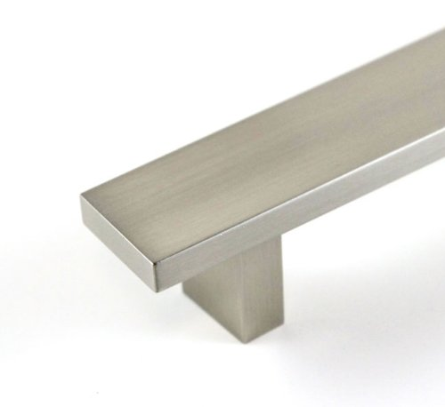 24 Inch Hard Aluminum Anodizing Cabinet Handle with Stainless Steel Brushed Nickel Finish (18-5/8 Inch Hole to Hole Spacing)