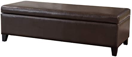 Christopher Knight Home York Bonded Leather Storage Ottoman Bench