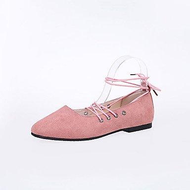 LvYuan Tacón Bajo-Confort-Sandalias-Vestido Informal-PU-Negro Marrón Rosa Gris Pink