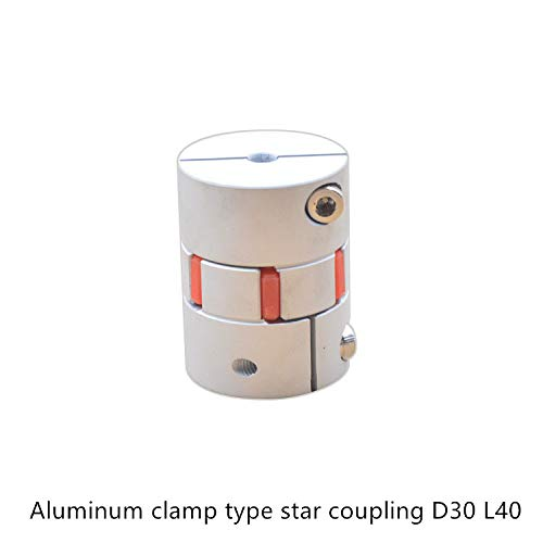 Ochoos CNC Motor Jaw Shaft Coupler Flexible Spider Plum Coupling D30 L40 7mm 8mm 9mm 9.5mm 10mm 11mm 12mm 13mm 14 15 16mm Inner Diameter: 9.5mm to 9.5mm