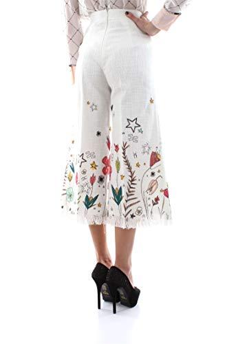Franchi Elisabetta Pa24291e2 Avorio Mujer Pantalón XUXZnwqf