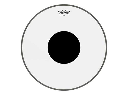 Remo Controlled Sound Clear with Black Dot Bass Drum 18 in. Controlled Sound Clear Bass Drum