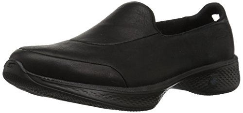 Max Leather (Skechers Performance Women's Go Walk 4-Desired Sneaker, Black, 8.5 M US)