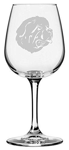 - Newfoundland Dog Themed Etched 12.75oz Libbey Wine Glass