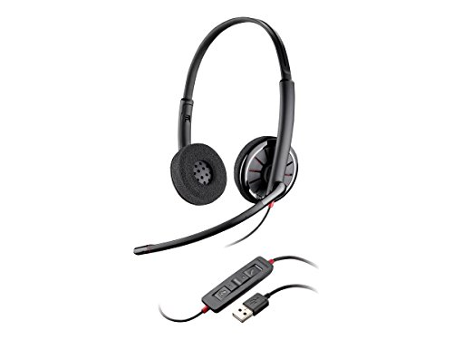 Plantronics 85619-102 Wire C320 Wired Headset, On- Ear, Black by Plantronics