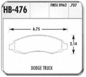 Hawk Performance HB476F.707 HPS Performance Ceramic Brake Pad