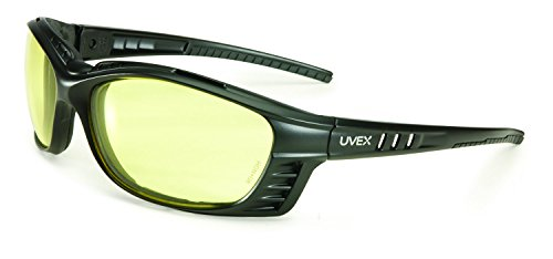 UVEX by Honeywell S2602XP Uvex Livewire Sealed Safety Eyewear with Matte Black Frame, Amber Lens Tint, UV Extreme  and Anti-Fog Lens (Amber Matte)