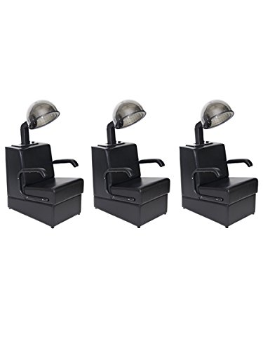 BR Beauty Set of 3 Kate Dryer & Chair Combos (Best Rated Salon Chairs)