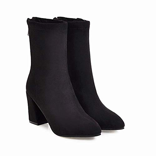 De botas Grueso 43 Negro 36 Tacón Botas Zj Invierno E Otoño Mujer Moda 6Rz0Sq