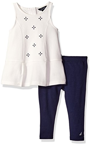 Nautica Baby Knit Top and Legging Set, Cream, 18 Months