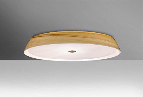 Besa Flush Light (Besa Lighting SOPHI14CRC Sophi 14 - Two Light Flush Mount, Creme Finish )