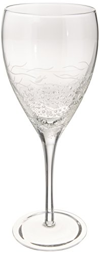 Abbott Collection Fish & Bubbles Glass Goblet ()