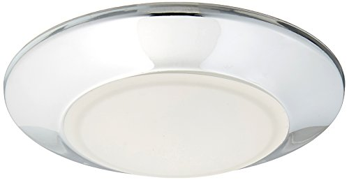 Westinghouse Lighting 6321800 Small LED Indoor/Outdoor Dimmable Surface Mount Wet Location, Chrome Finish with Frosted Lens,