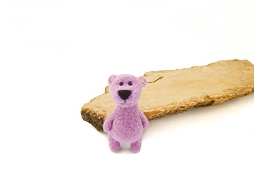 Needle Felted Bear (Needle felt bear brooch, Felted Teddy bear pin, Girl gifts, Christmas gift idea)