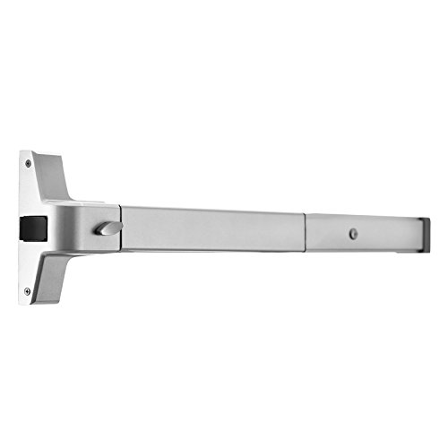 TOTOOL Emergency Panic Exit Stainless Steel Push Bar Panic Exit Device Commercial Door Push Bar with Exterior Lever for Wood or Metal Door Applications by TOTOOL (Image #1)