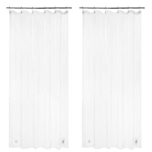 AmazerBath 2 Pack Thin Shower Curtain Liners, 36