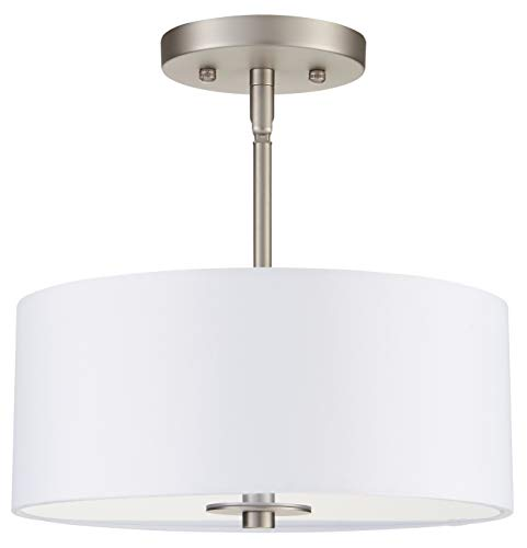 (Cosello Brushed Nickel Semi Flush Mount Ceiling Light LL-CL185)