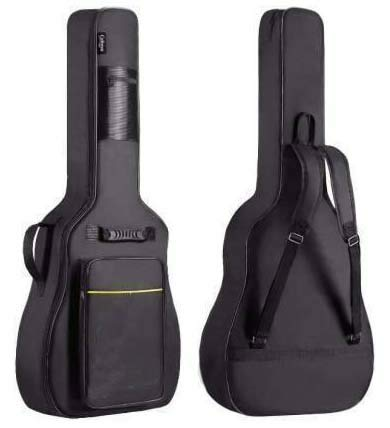 Generic-Star-Line-Enterprises-Guitar-Bag-Black-Yellow-line-With-Padding-Bag-Cover-Like-Yamaha-Pacifica-40-Inch