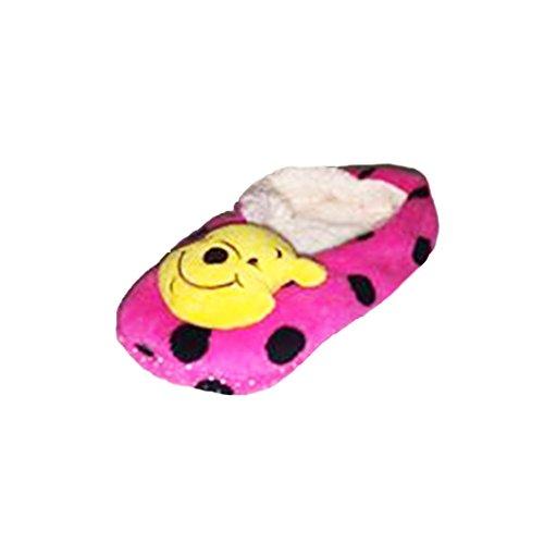 Damen Charakter Pantoffel Socken Rosa