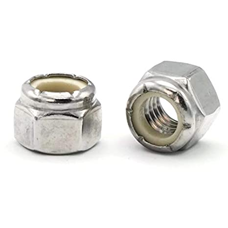 Nylon Lock Nut 18-8 Stainless Steel .563 Flats x .335 Height Qty-25 3//8-24