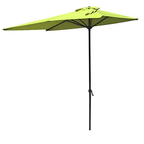 COBANA Half 7.5'by 5' Rectangular Outdoor Umbrella for Patio,Balcony,Garden,Deck,Lime Green