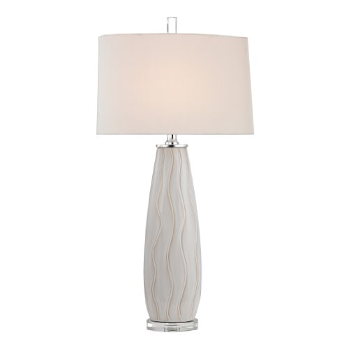 Ceramic Wave Table Lamp - Dimond Lighting D2452 Wave Ceramic Table Lamp, 18.0