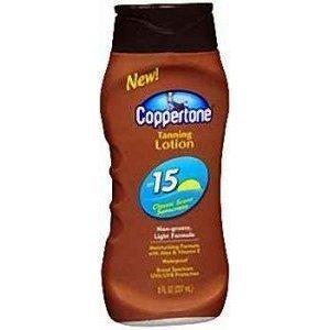 Coppertone Tanning Lotion UVA/UVB SPF 15 - 8 oz. (Pack of 6)