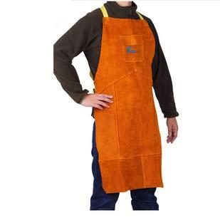 QqHAO Delantal de Cuero Delantal - Soldadura Ropa de Trabajo Pesado para Hombres Delantal de Alta