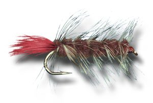 Woolly Worm - Brown Fly Fishing Fly - Size 10 - 3 Pack