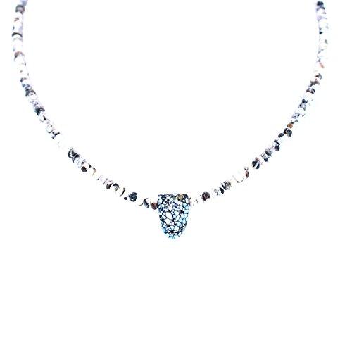 White Buffalo Turquoise Pendant Necklace Southwest Elegance