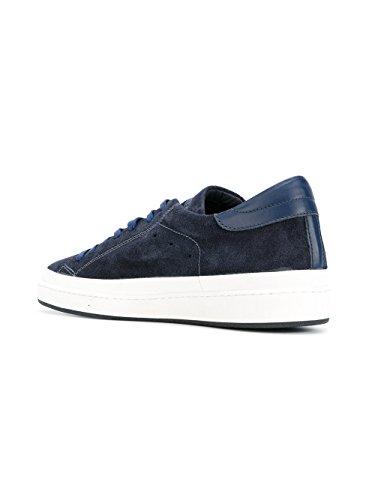 Philippe Model Mannen Ckluxs01 Blauwe Suède Sneakers