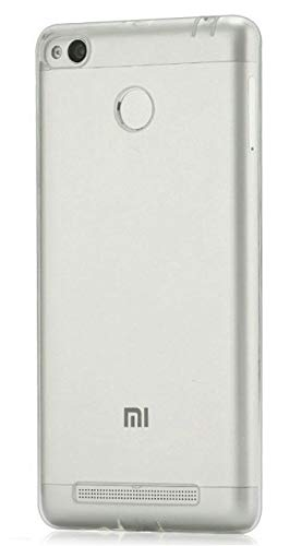 YOFO Rubber Shockproof Soft Transparent Back Cover for MI Redmi 3S / Redmi 3S Prime    Transparent HD