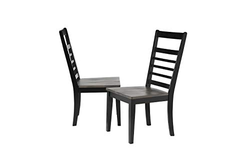 (Sunset Trading DLU-EB-C100-2 Tempo Brook Dining Chair Grey and Antique Black with Cherry Rub)