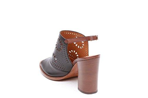 Scarpe italiane sandali sabot donna nero