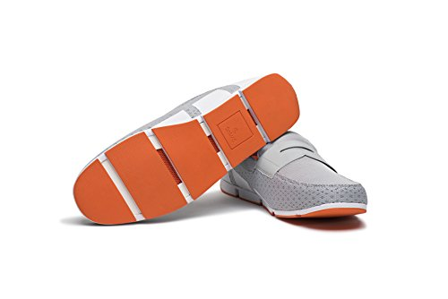 for SWIMS Gray Penny White Orange Summer Pool Loafer Men's and Breeze 67arI7