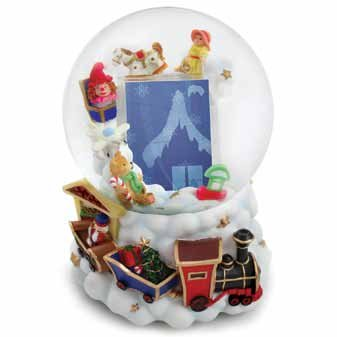 Amazoncom Christmas Train Picture Frame Musical Watersnow Globe