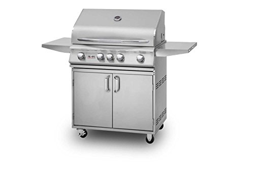 Delsol Delta 3 Burner Freestanding Gas Grill With Sear