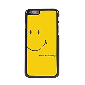 HaleyL-Smiling Face Pattern Aluminum Hard Case for iPhone 6