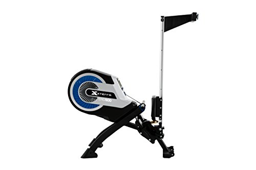 XTERRA ERG500 Air Turbine Rower, Silver/Black