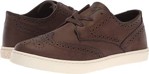 (Polo Ralph Lauren Kids Boys' Alek Oxford Sneaker, Chocolate Burnished, M035 M US Big)