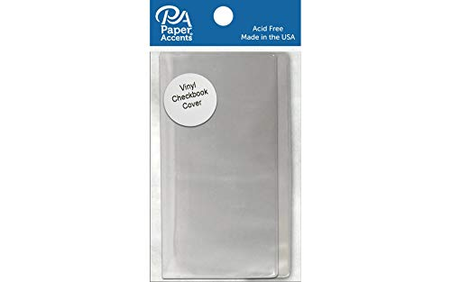 Paper Accents Vinyl Checkbook Cover 6.25x6.75 Clear