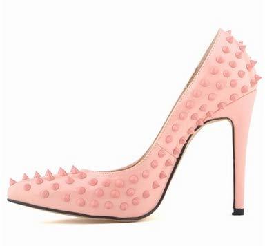 C 35 EU FLYRCX Mode européenne de Haute qualité cloutés Stiletto Couleuré Talons Hauts Les Les dames Bouche Peu Profonde Chaussures Pointues