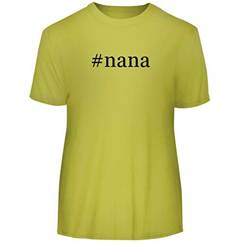 #Nana - Hashtag Men's Funny Soft Adult Tee T-Shirt, Yellow, XX-Large