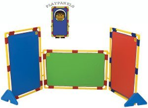 Children's Factory Rectangular Rainbow Set of Three PlayPanels
